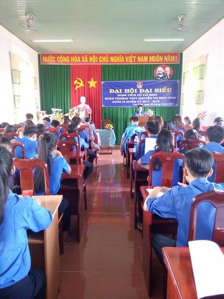 Đoàn trường THPT Nguyễn Thị Minh Khai đã long trọng tổ chức Đại hội Đại biểu Đoàn TNCS Hồ Chí Minh khóa IX, nhiệm kỳ 2017 – 2018