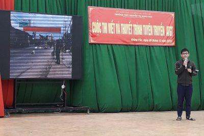 Cuộc thi viết và thuyết trình tuyên truyền về An toàn giao thông cấp trường